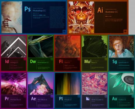 Adobe Creative Cloud 2014.1版スプラッシュスクリーン