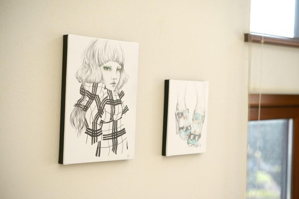 川口 絵里衣さんの個展「FRANKISH」へ