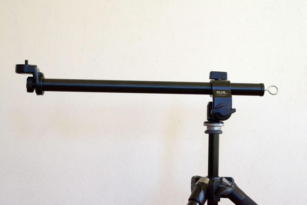 小物のブツ撮りにSLIKの「スライディングアーム Ⅱ」
