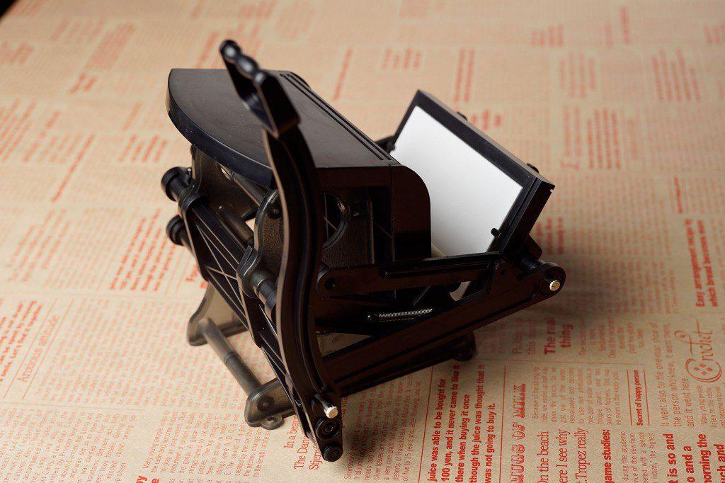 大人の科学マガジン「小さな活版印刷機」吸取紙とローラーフェルトを代用品で交換