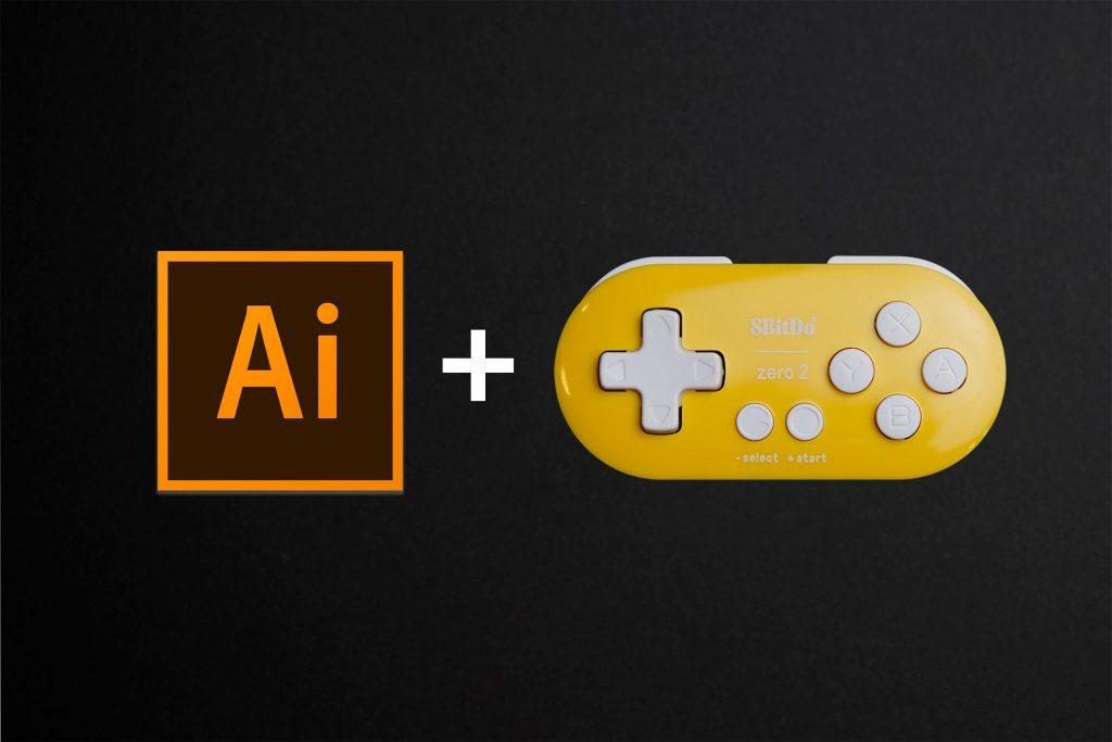 Illustratorと8BitDo ZEROを組み合わせて操作する