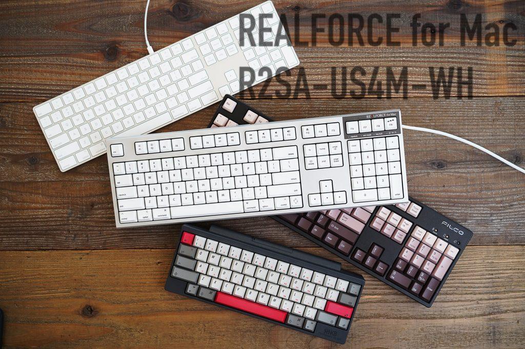 東プレREALFORCE for Mac フルキーボード PFU Limited Edition PZ-R2SA-US4M-WH